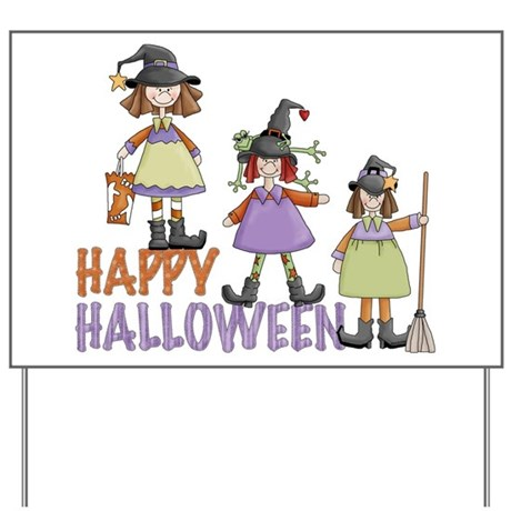 Sister Witches Halloween Yard Sign