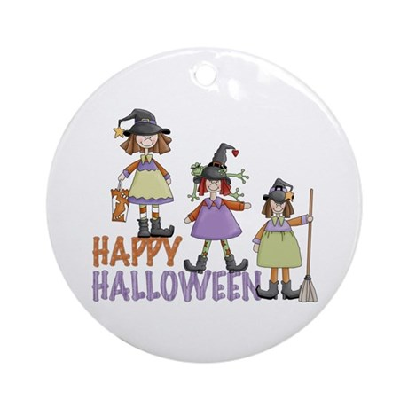 Sister Witches Halloween Ornament (Round)