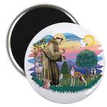 St Francis #2/ Whippet #12 Magnet