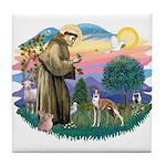 St Francis #2/ Whippet #12 Tile Coaster