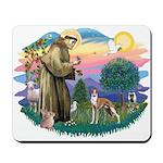 St Francis #2/ Whippet #12 Mousepad