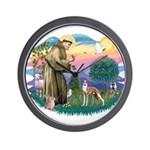 St Francis #2/ Whippet #12 Wall Clock