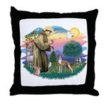 St Francis #2/ Whippet #12 Throw Pillow