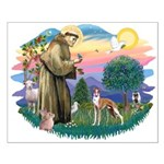 St Francis #2/ Whippet #12 Small Poster