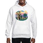 St Francis #2/ Whippet #12 Hooded Sweatshirt
