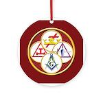 Masonic York Rite Circle Ornament (Round)