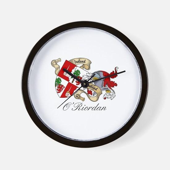 O'Riordan Coat of Arms Wall Clock