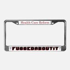 Fuggedaboutit Caduceus Stars License Plate Frame