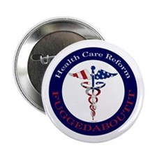 "Fuggedaboutit Caduceus Stars 2.25"" Button (10"