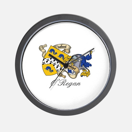 O'Regan Coat of Arms Wall Clock
