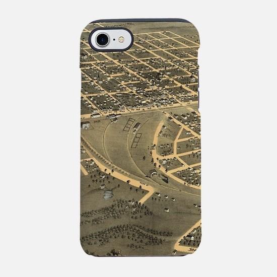 Vintage Map of Macon City Geor iPhone 7 Tough Case