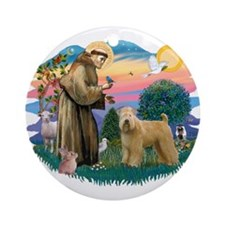 St Francis #2/ Wheaten Ornament (Round)
