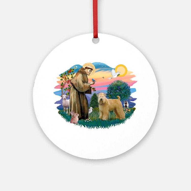 St Francis #2/ Wheaten Ornament (Round)