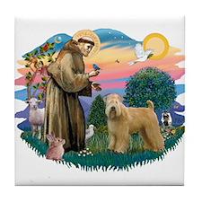 St Francis #2/ Wheaten Tile Coaster
