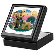St Francis #2/ Wheaten Keepsake Box