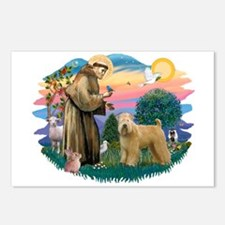 St Francis #2/ Wheaten Postcards (Package of 8)