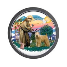 St Francis #2/ Wheaten Wall Clock