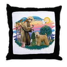 St Francis #2/ Wheaten Throw Pillow