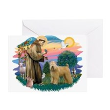 St Francis #2/ Wheaten Greeting Card