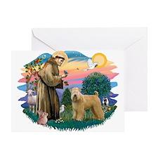 St Francis #2/ Wheaten Greeting Card