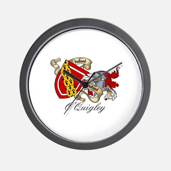 O'Quigley Coat of Arms Wall Clock