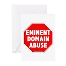 Stop Eminent Domain Abuse Greeting Cards (Package