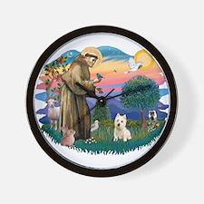 St Francis #2/ Westie Wall Clock