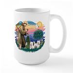 St Francis #2 / Westies (2) Large Mug