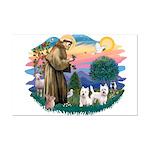 St Francis #2 / Westies (2) Mini Poster Print