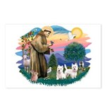 St Francis #2 / Westies (2) Postcards (Package of