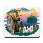 St Francis #2 / Westies (2) Mousepad