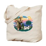 St Francis #2 / Westies (2) Tote Bag