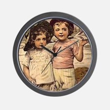 Victorian Brother & Sister Wall Clock