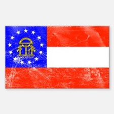 Vintage GA State Flag Decal