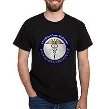 Fuggedaboutit Gold Caduceus T-Shirt