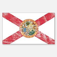 Vintage FL State Flag Sticker (Rectangle)