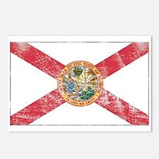 Vintage FL State Flag Postcards (Package of 8)