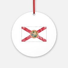 Vintage FL State Flag Ornament (Round)
