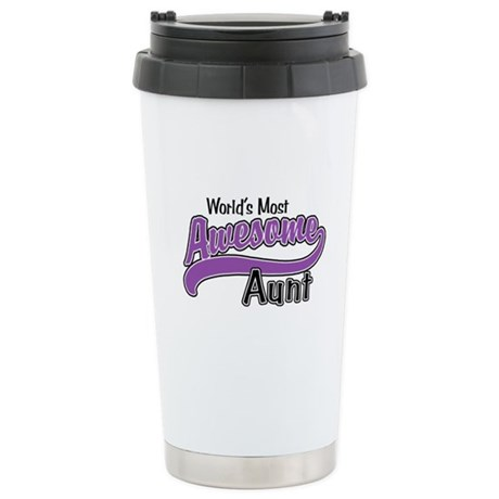 Most Awesome Aunt Stainless Steel Travel Mug