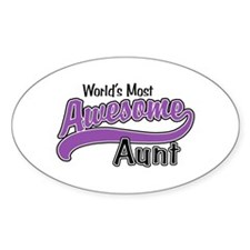 Most Awesome Aunt Decal