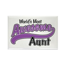 Most Awesome Aunt Rectangle Magnet