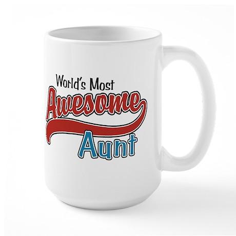 Most Awesome Aunt Large Mug