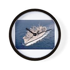 USS Supply Ship's Image Wall Clock