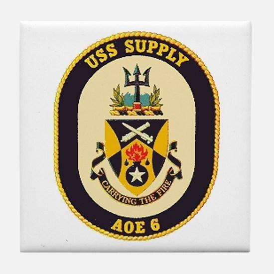 USS Supply AOE 6 Tile Coaster