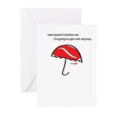 Wet outside Greeting Cards (Pk of 10)