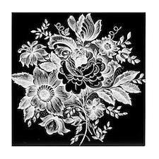 Roses Flowers Tile Coaster