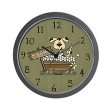 Puppy's Bathtime Wall Clock