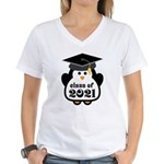 Penguin Class of 2021 Women's V-Neck T-Shirt