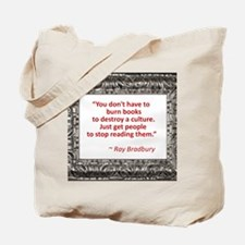 Bradbury on Books Tote Bag