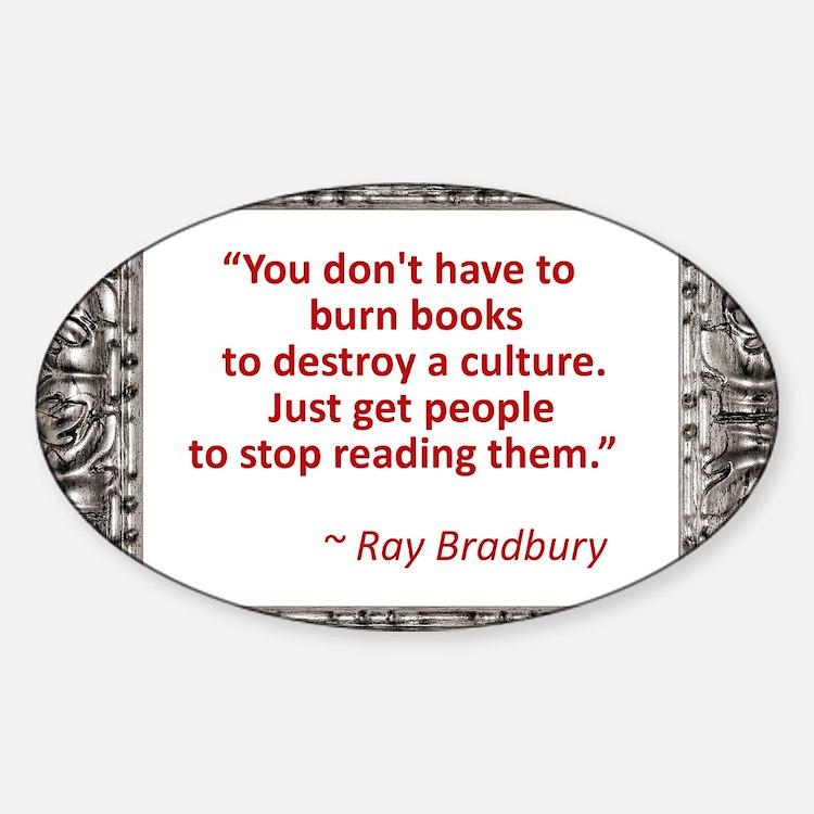 Bradbury on Books Decal